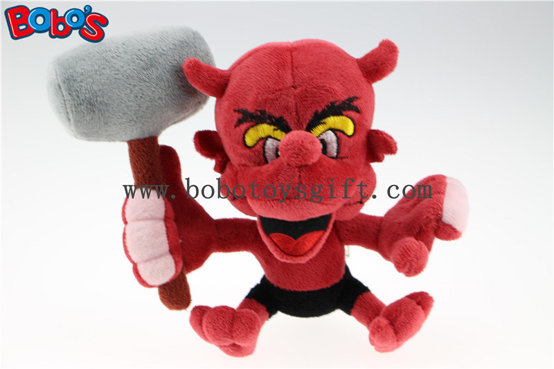 "7"" Custom Toy Costomized Made Stuffed Animal Red Devil Monster Toy Bos1128"