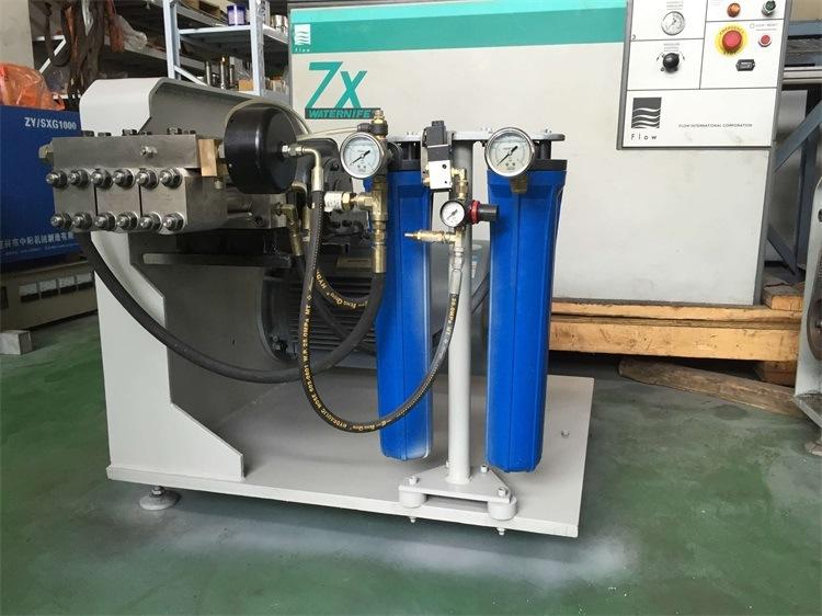 Yuanhong Waterjet Cutting Machine 2m*3m Cutting Table with Intensifier Pump.
