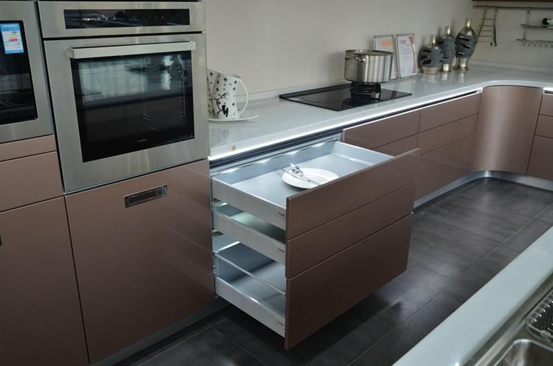 2016 New Designed Contemporary Lacquer Kitchen Cabinet