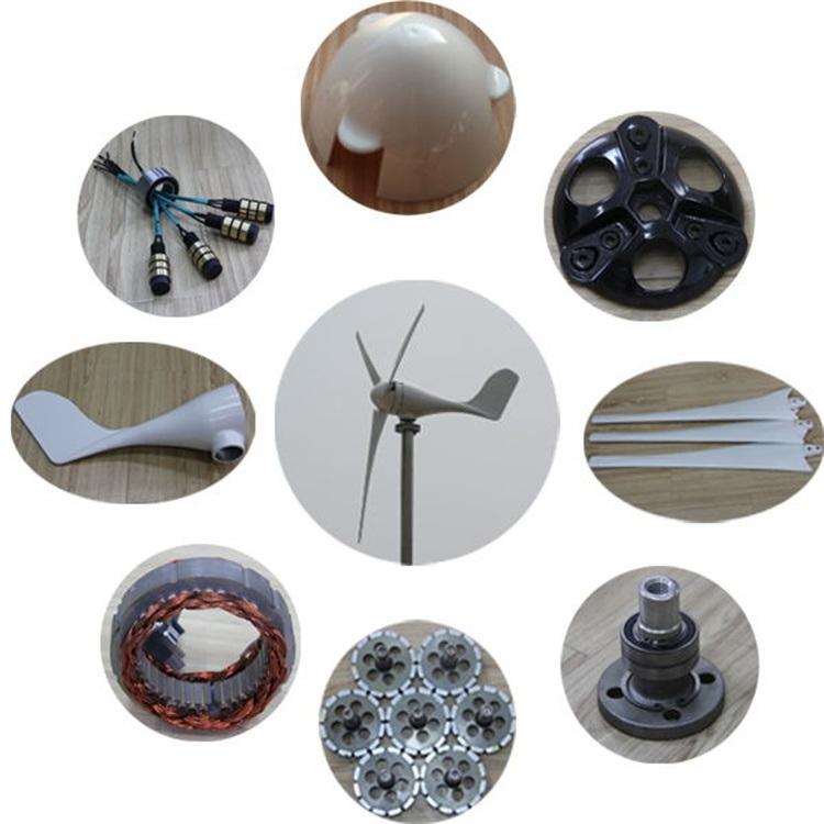 Mini Horizontal Axis 100W Wind Generator Turbine for Streetlight Use