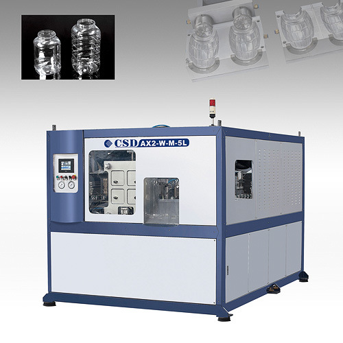 CE Approved with Ax Down Blow Series Automatic Blow Molding Machine (CSD-AX2-W-M-5L)