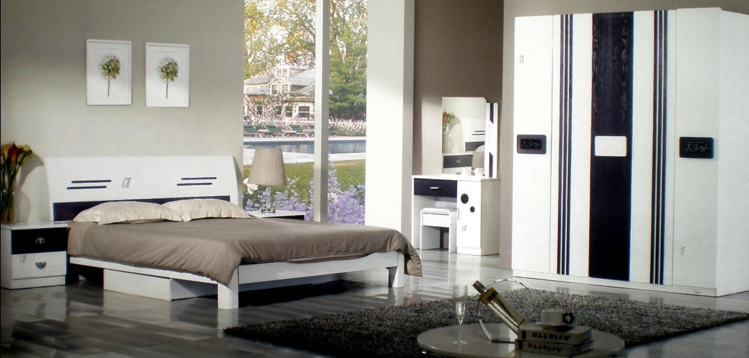 Ensemble de chambre coucher en bois de nouveau mod le for Chambre a coucher nouveau modele