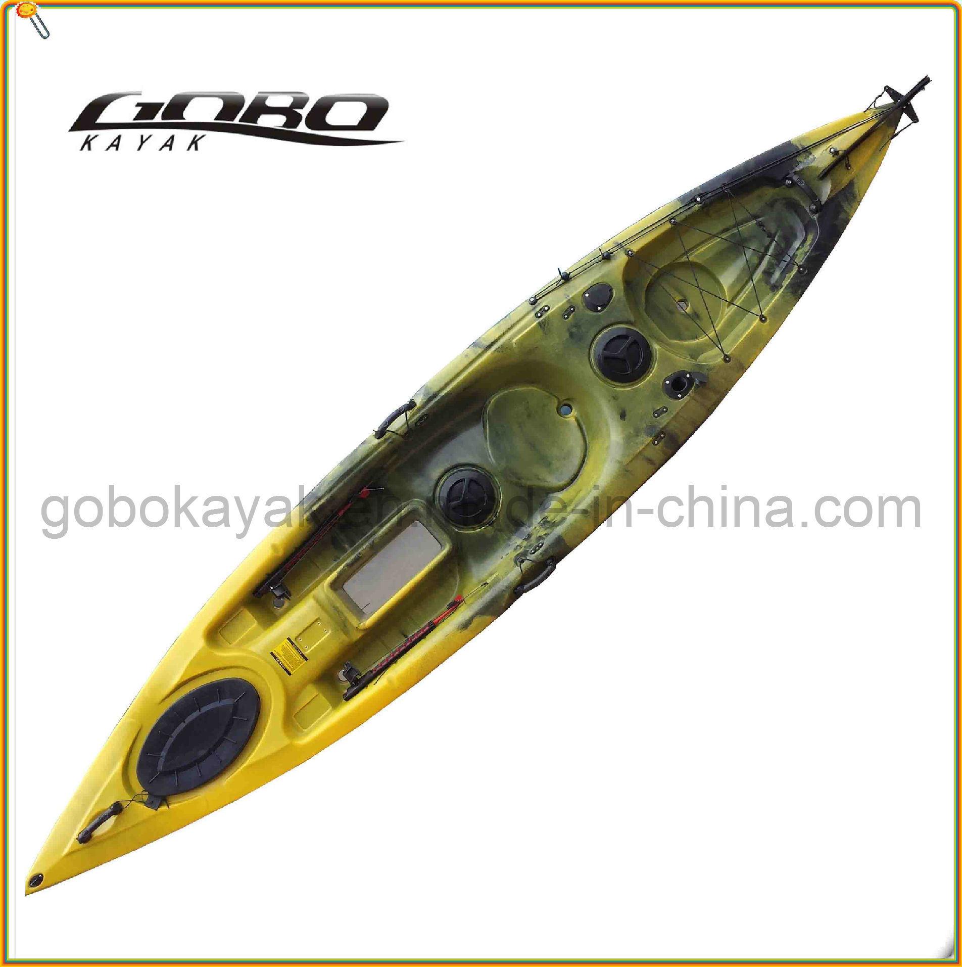 Polyethylene Single Fishing Kayak with Paddle &Pedal