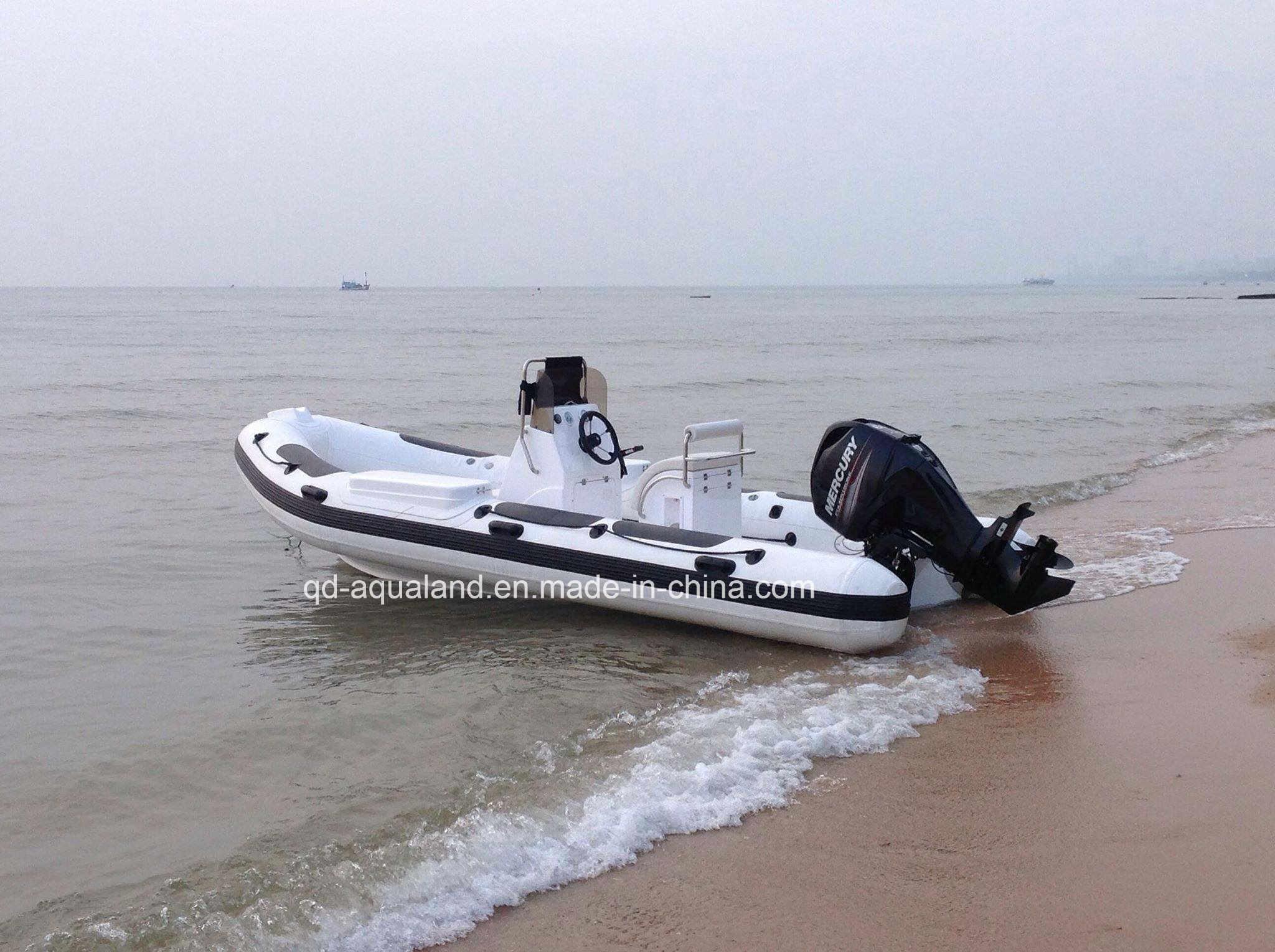 Aqualand 18feet 5.4m Rigid Inflatable Fishing Boat/Rib Rescue Patrol/Motor Boat (RIB540A)
