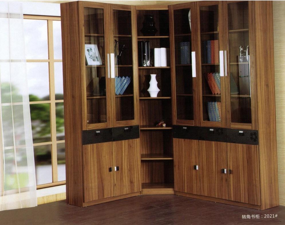 China modern walnut wooden angular bookcase htm 2021 - Estantes para libros ...