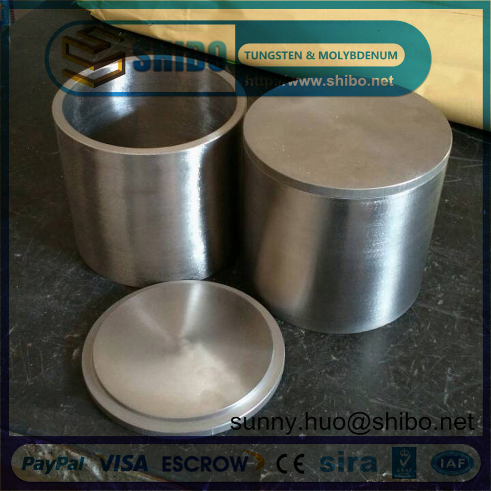 99.95% High Density Molybdenum (moly) Crucible with Lip