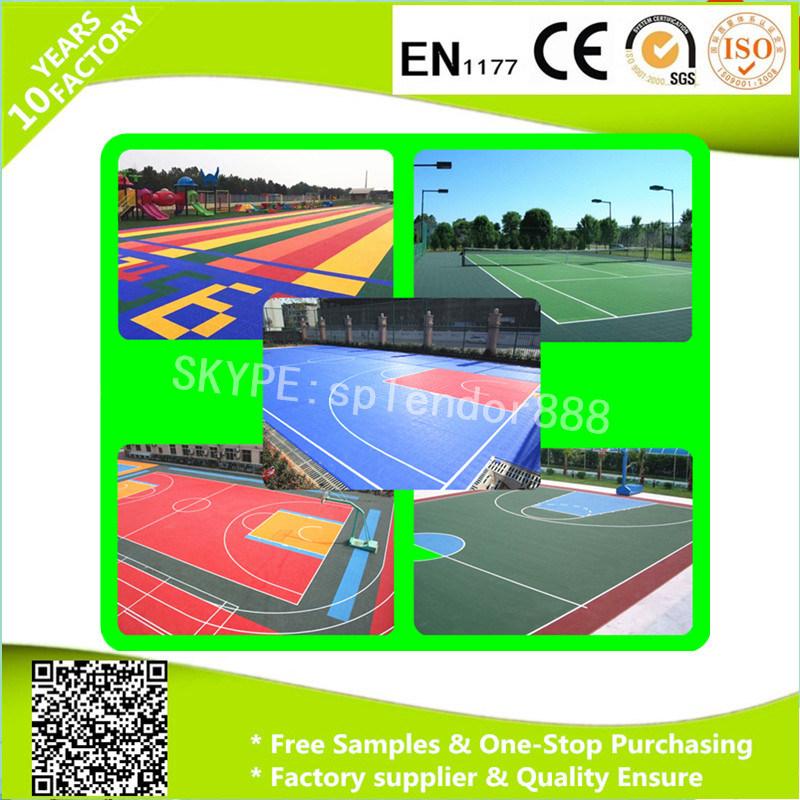 Outdoor Interlocking Plastic PP Table Tennis Sport Court Floor Tiles