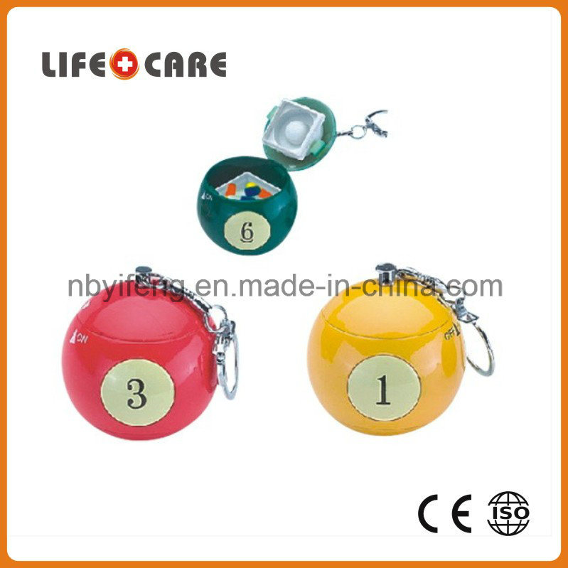 Medical Good Promotion 8-Compartment Pillbox with Mirror