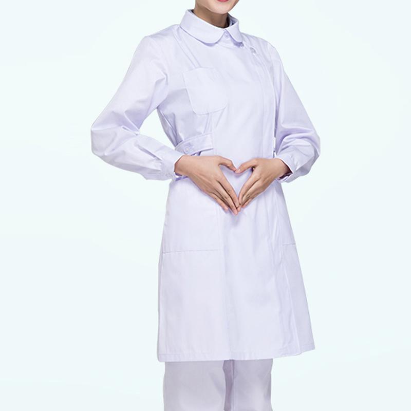 China Wholesale Hospital Long Sleeve White Nurse Uniform