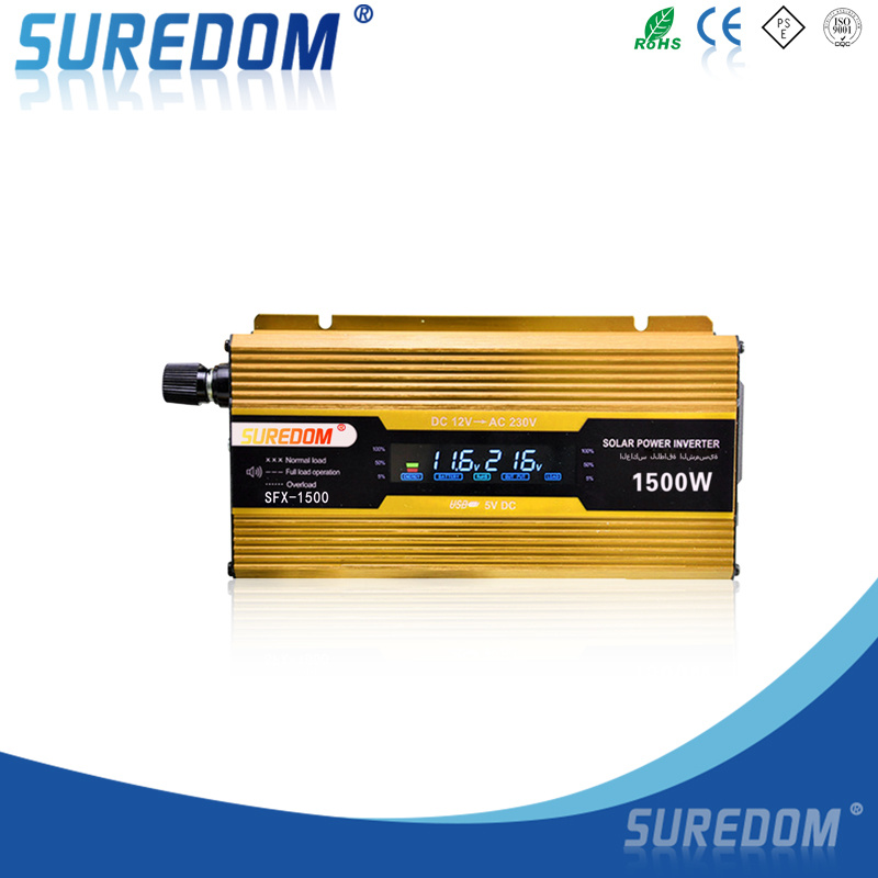 Inverter 12V 220V 1500W 50Hz Car Power Inverter with Digital Display DC to AC Inverter