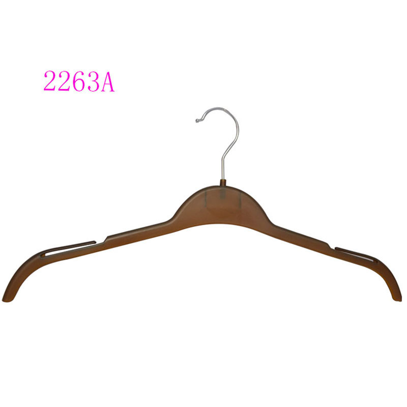 Wooden Looking Shirt Hanger Flat Style Custom