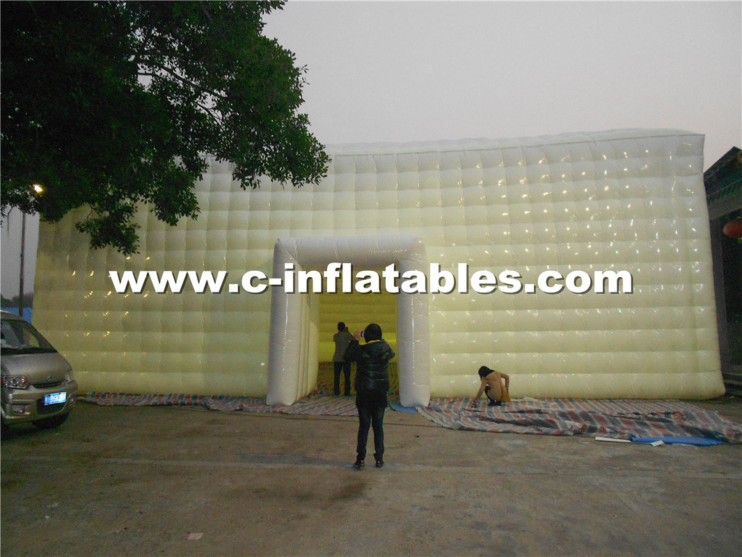 Giant Inflatable Cube Tent with LED Lighting for Event Customized