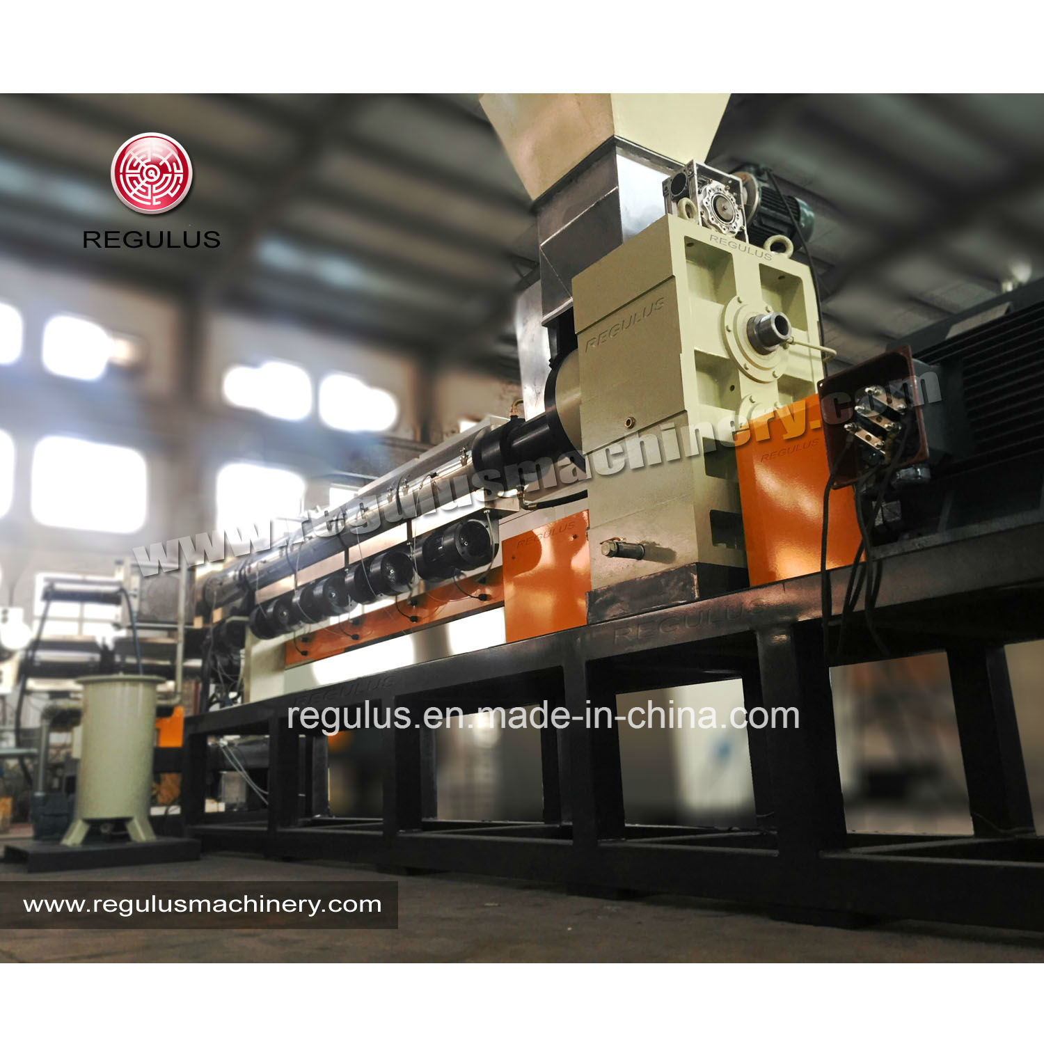 Double Stages Granules Extrusion Machine