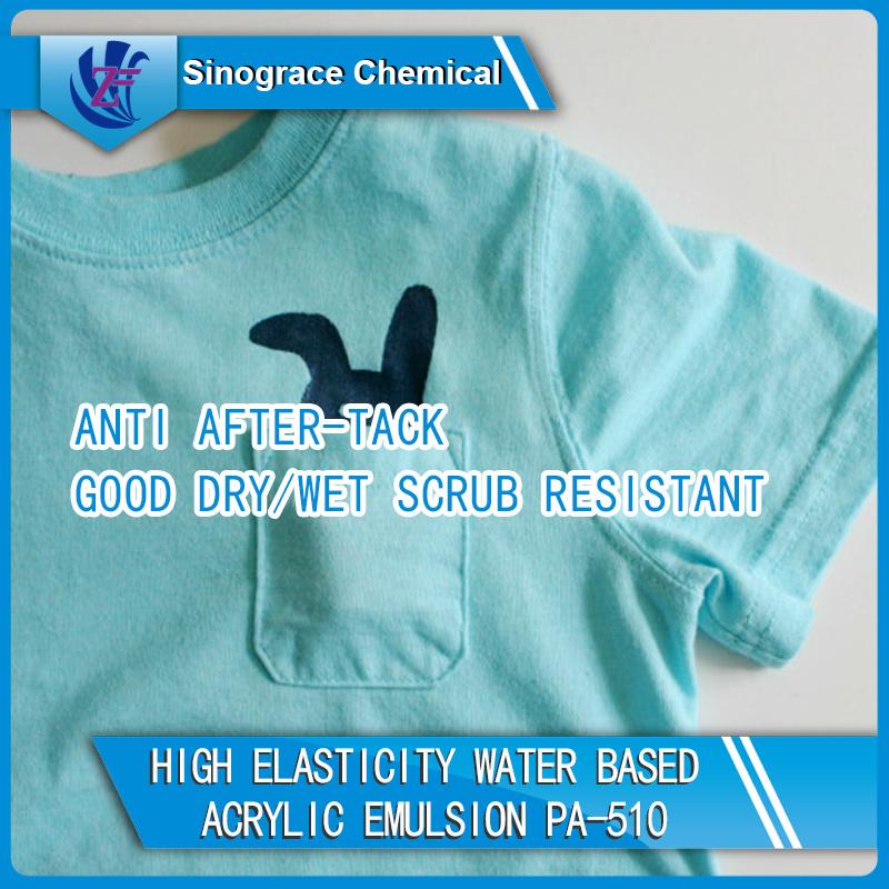 Washable Water Based Acrylic Emulsion for Textile Coating