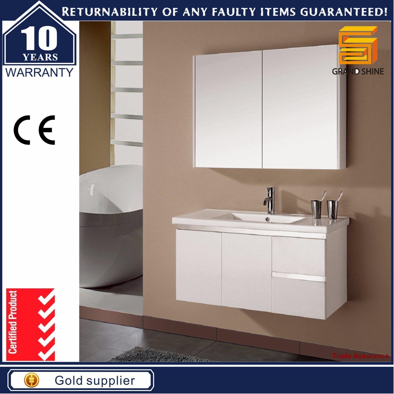 Sanitary Ware MDF Floor Mounted Bathroom Vanity Set
