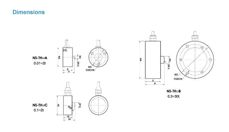 Ns - Th17 Column Type Torque Sensor Load Cell