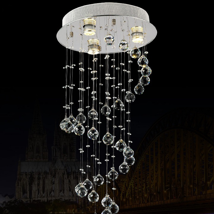 Modern Crystal Bedroom Balcony Light Aisle Lamp 6037