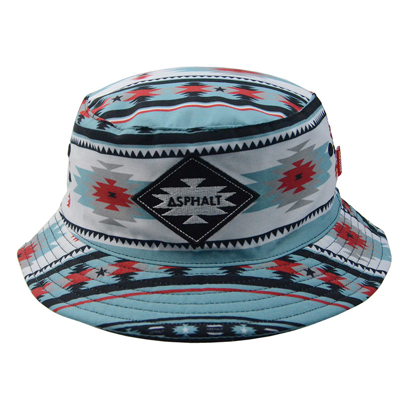 Custom Fashion Colorful Polyester Bucket Hat Summer Hat Fishing Cap