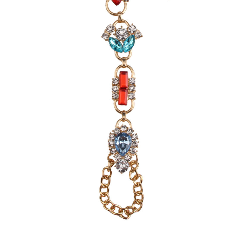 Fashion Metal Alloy Colorfu Rhinestone Diamond Crystal Anklet Body Jewelry