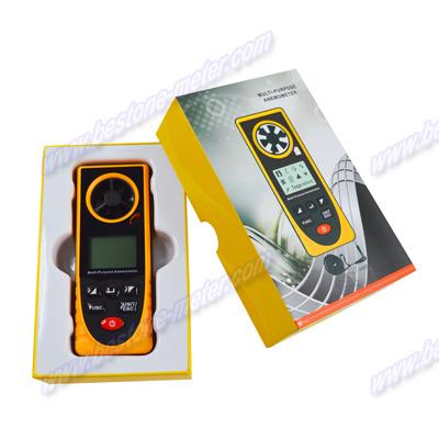 Multi-Purpose Anemometer, Air Velocity, Wind Speed Meter, Thermometer, Anemograph, Arometric Pressure, Altitude, Illumination Be8910