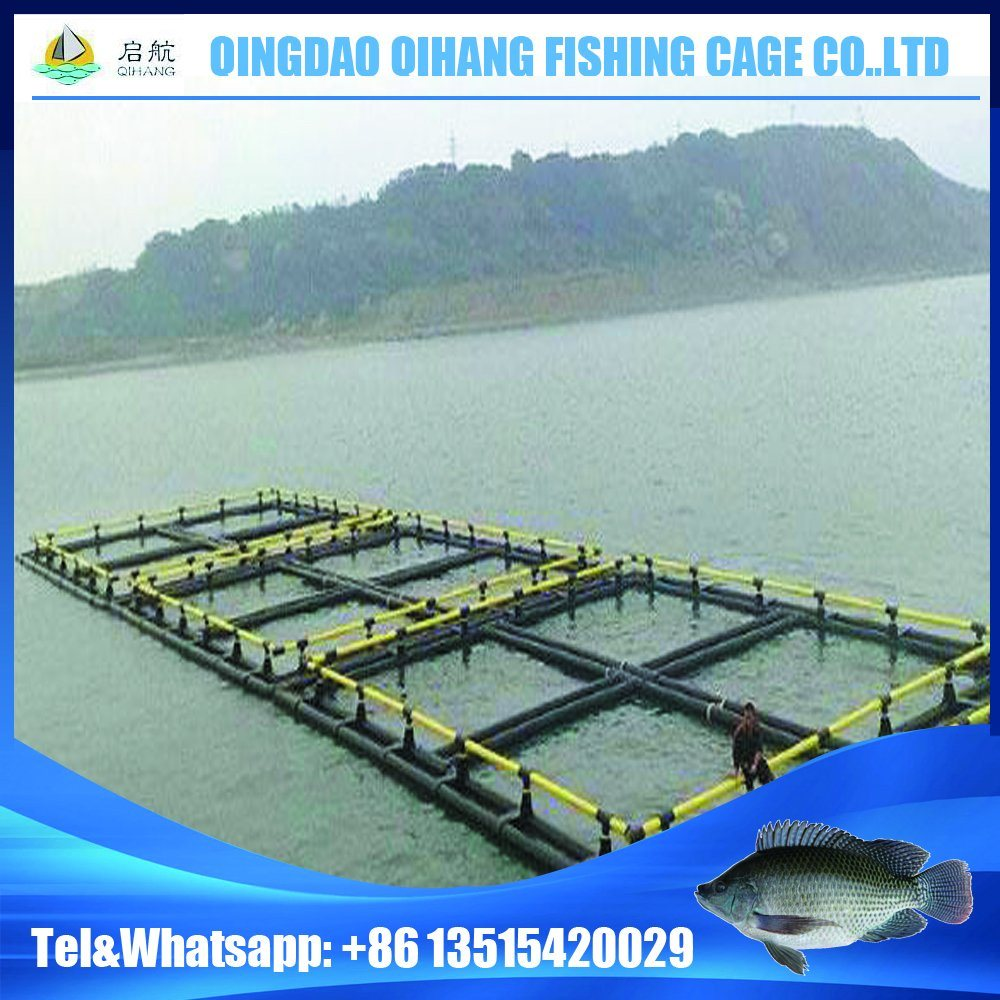 HDPE Floating Platform Fish Cage for Fish Breeding