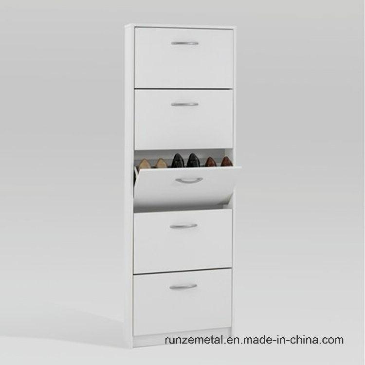 Tall Cabinet 100 Pair Metal Shoe Rack
