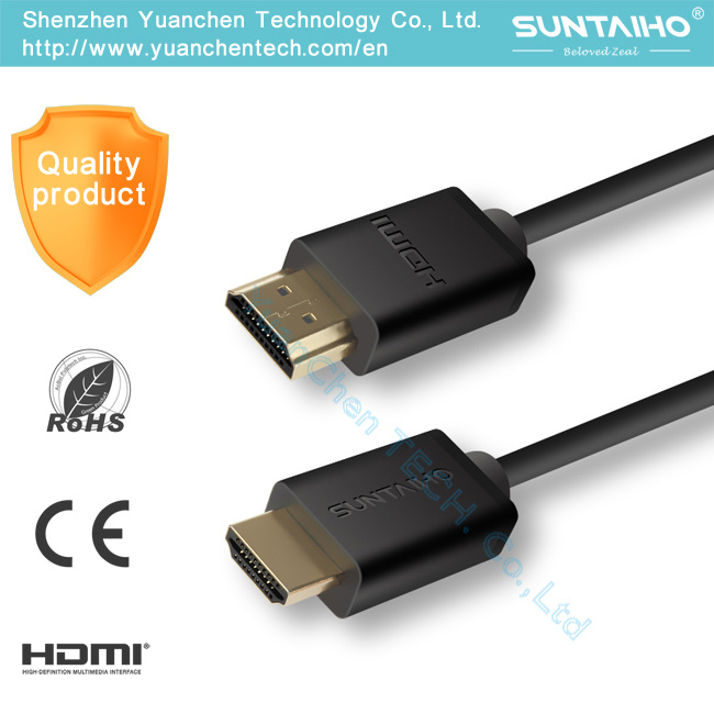 High Speed 1.4 Version Male to Male HDMI Cable for HD