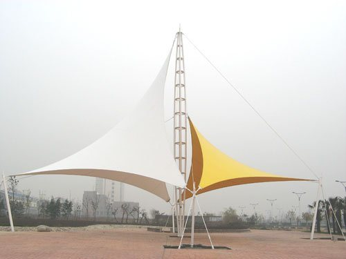 Beautiful Membrane Structure for Garden Square