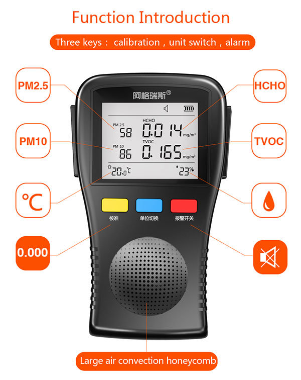 Multi-Functional Particle Counter Air Detector for Formaldehyde Tvoc Pm2.5