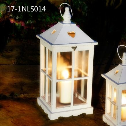 Antique Vintage with Small Door and Pedestal of Wooden Lanterns