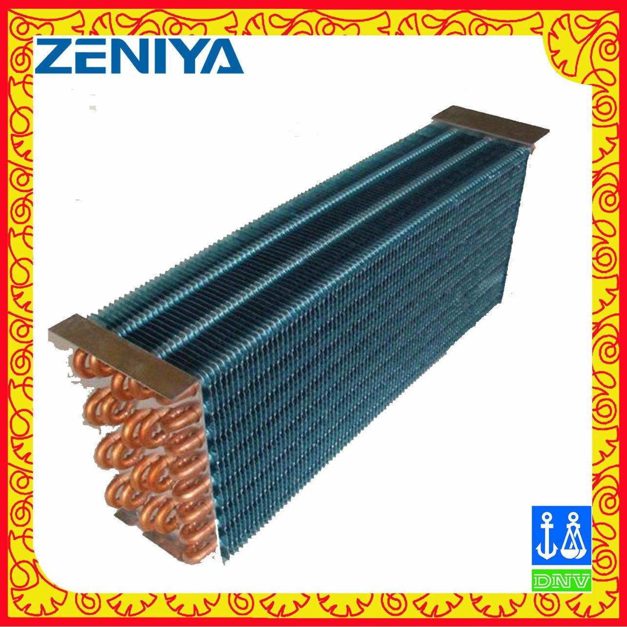 Environmental Copper Tube Copper Fin Condenser Coil for AC Outdoor Unit