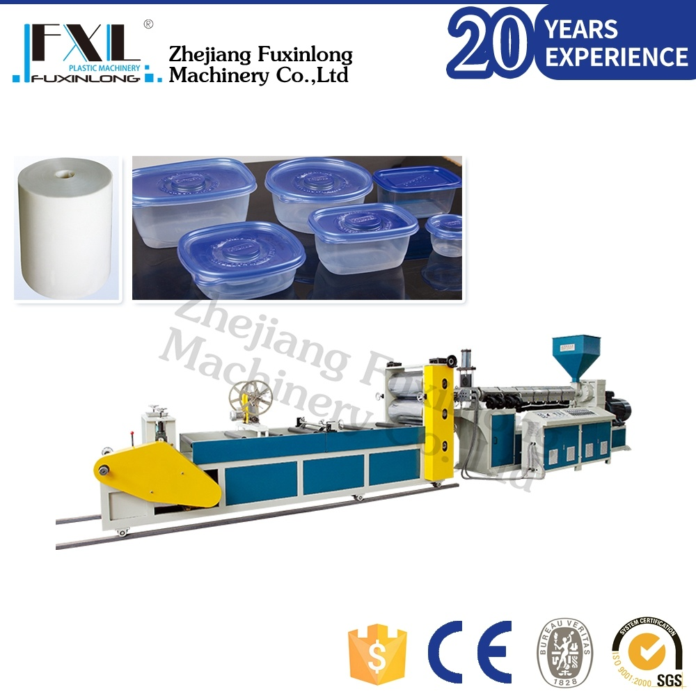 Single Layer Plastic Sheet Extruding Machine for PP PS
