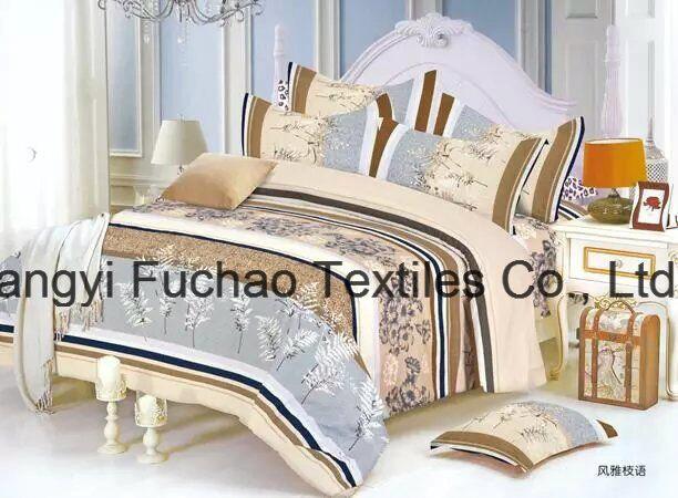 Printed Quilted Pigment Printing Microfiber Bedspread/Bedding Set