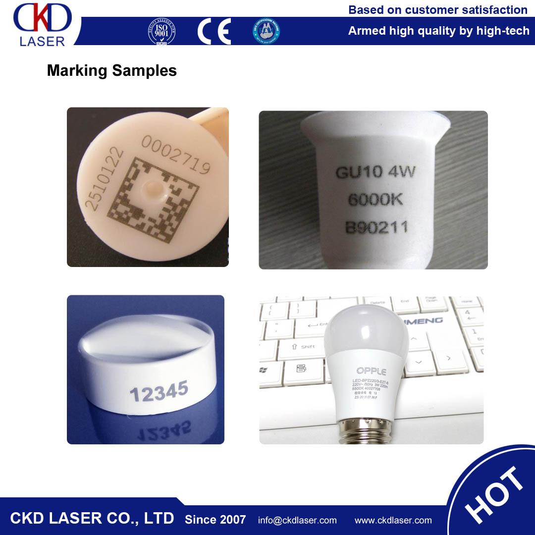 Rotary Fiber Laser Marker Engraving Machine for LED Bulb
