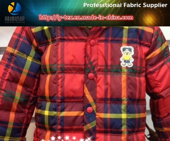 320t Polyester Dull Pongee Printing with Coating for Down Jacket