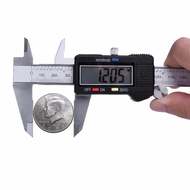 "High Quality Popular Inch Metric 6"" 150mm Digital Caliper 75/100/150/200/300mm"
