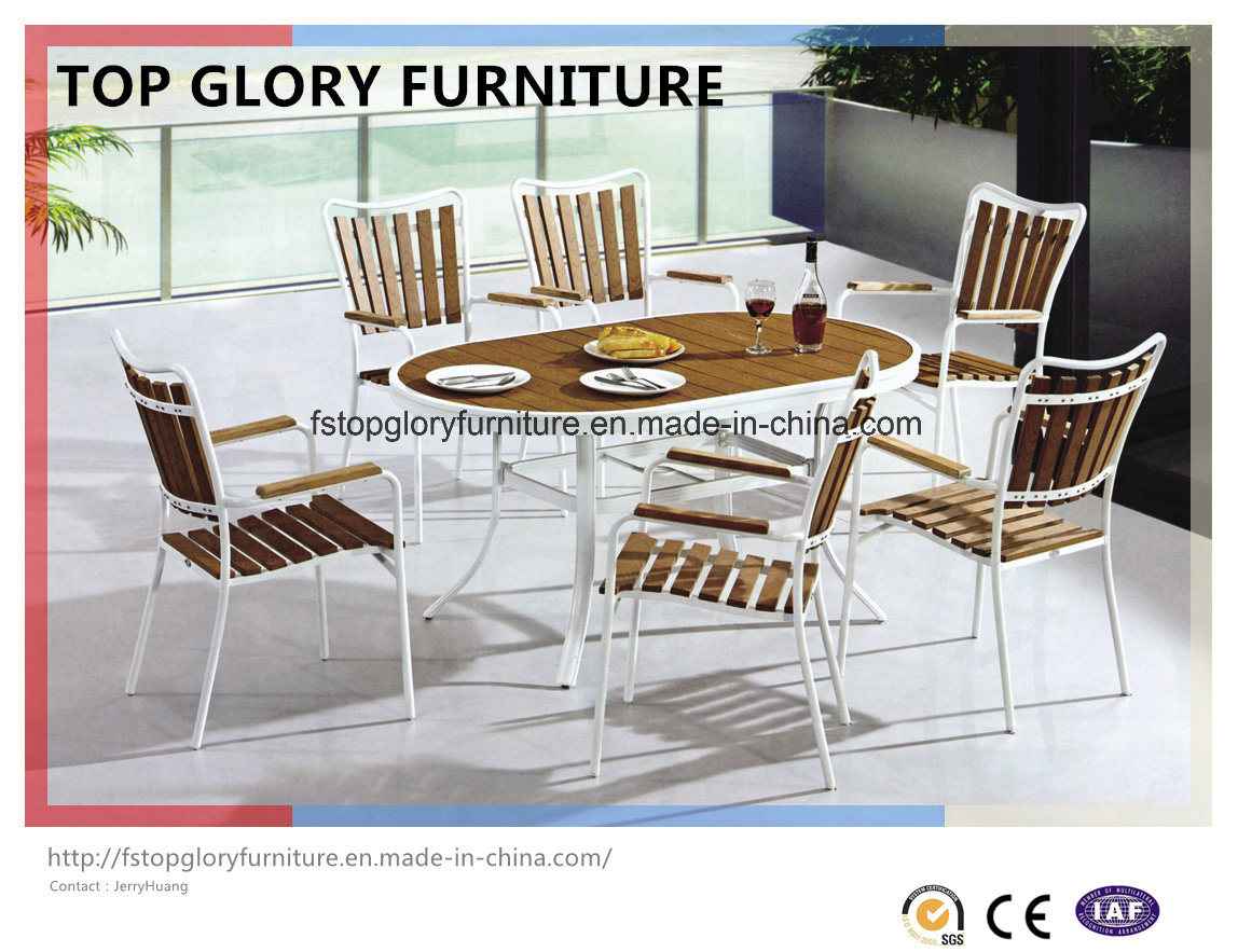 Plastic Wood Dining Set, Garden Dining Set, Plastic Wooden Furniture (TG-1293)