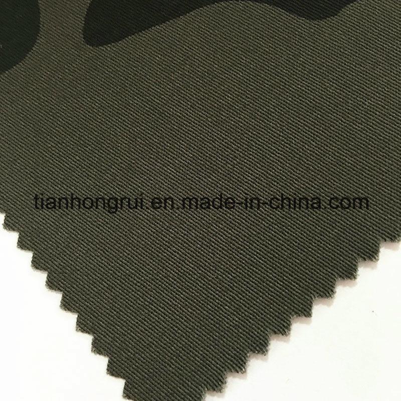 Khaki White Cotton Flame Retardant Canvas Fabric