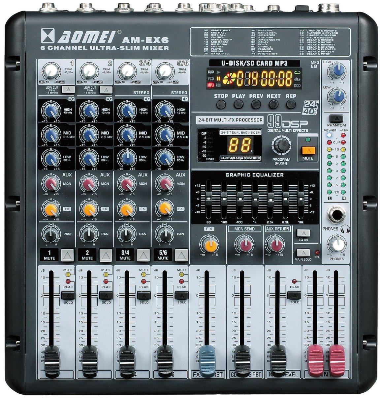 Special Popular Design Smaller Mixer Ex6 Series Professional Amplifier
