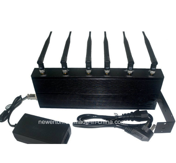 New Arrival! Portable 6-Band Desktop WiFi Jammer/GSM, CDMA 3G 4G Mobile Phone Signal Isolator Jammer