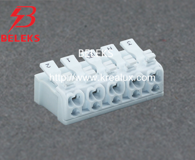 Five Poles Quick Wire Connector with Release Button (P02-D5)