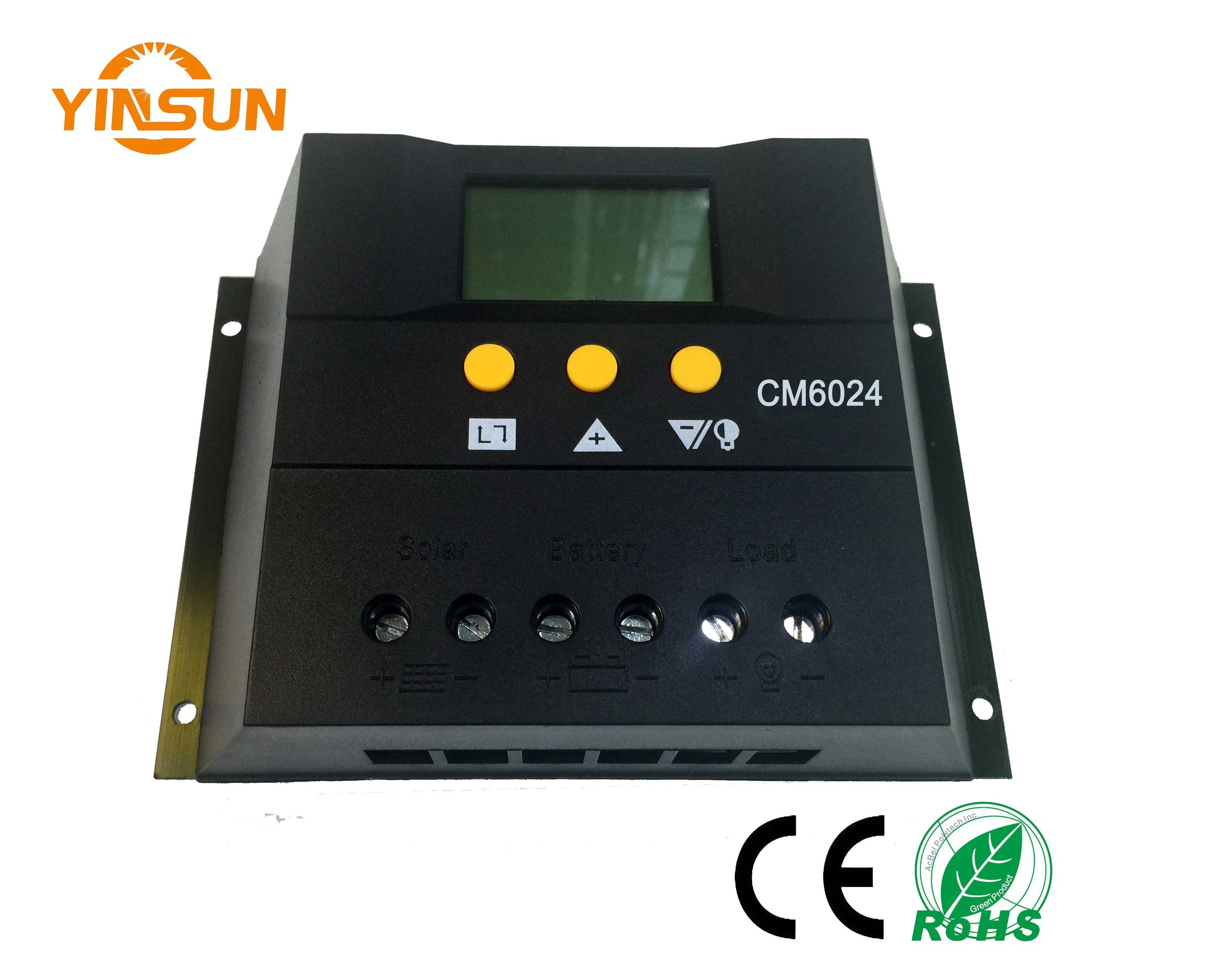60A12vor24V Solar Charger Controller with Solar Panel for Solar Power
