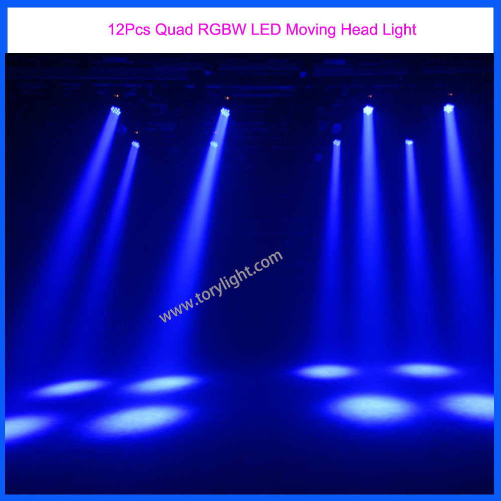 Stage Equipment DJ Light 12PCS Quad LED Moving Head