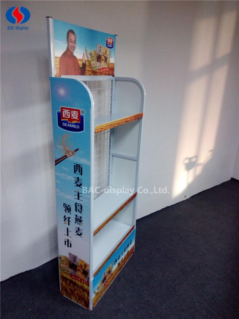 Supermarket Metal Promotion Noodle Display Rack