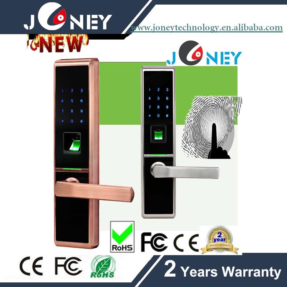 Zinc Alloy Metal Casing Fingerprint Door Lock Can Remote Control
