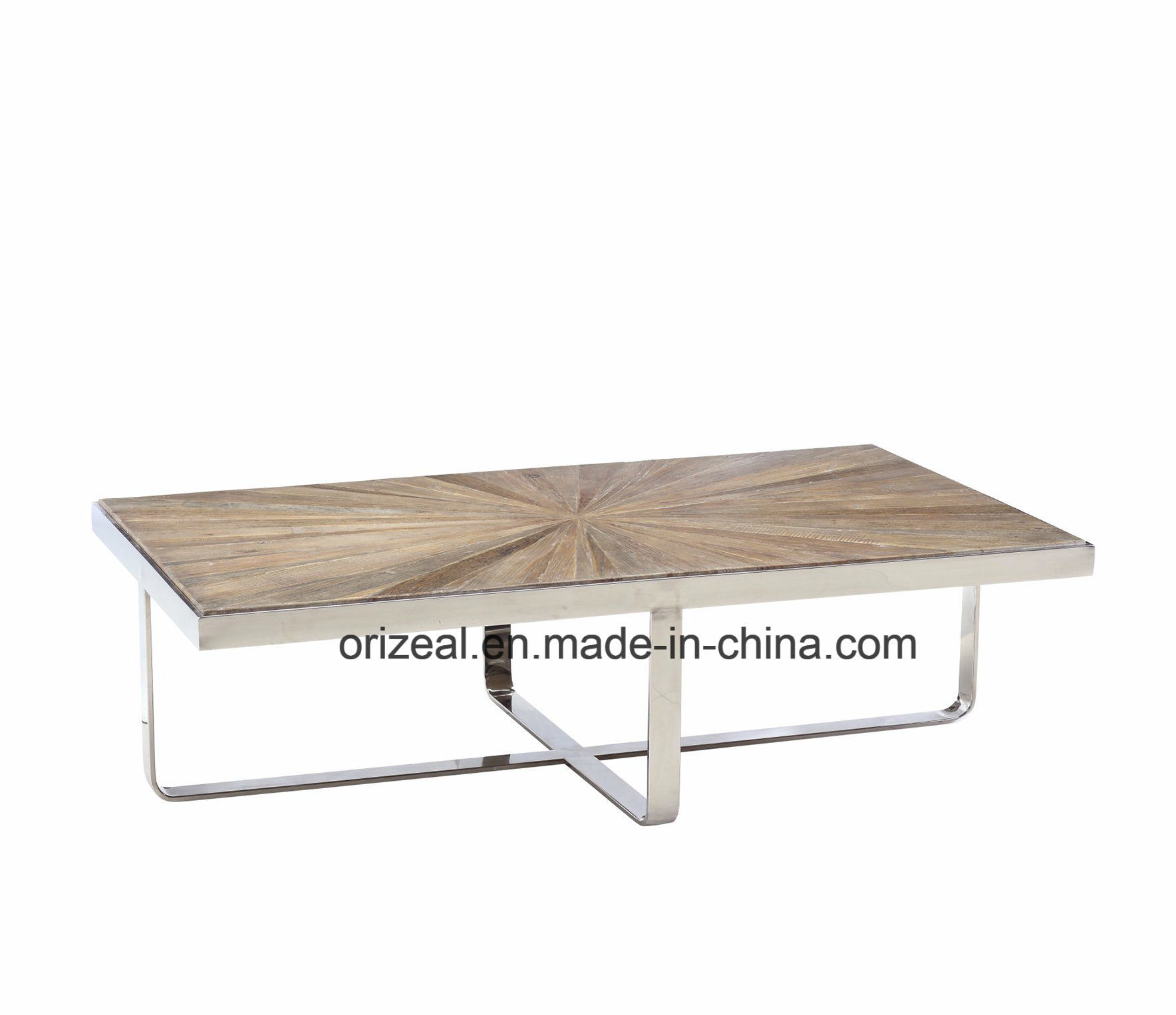 Good Quality Stainless Steel Wooden Coffee Table Modern Furniture