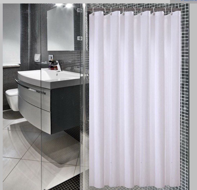 Polyester Jacquard Mildew-Resistant Bath and Shower Curtain