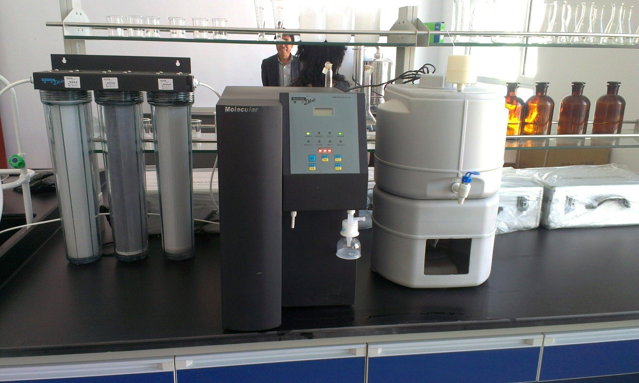 Reverse Omosis Dual UV Lamp Laboratory Water Purification System