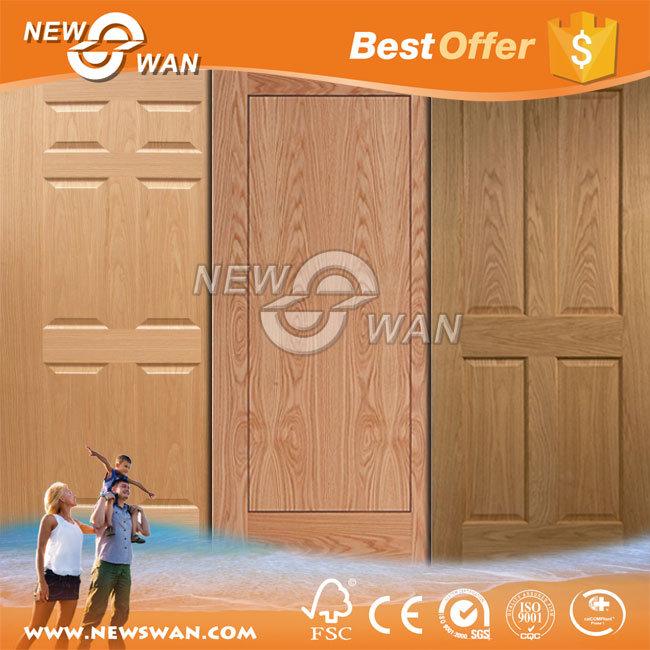 White Primer HDF Door, Wood Veneer Teak Ash Molded Door Skin