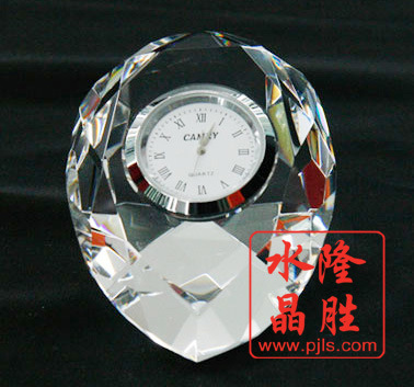 2017 New Design Crystal Glass Clock for Table Decoration